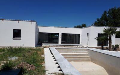 Maîtrise d'Oeuvre pour Construction d'une maison moderne de plain-pied – Poncins