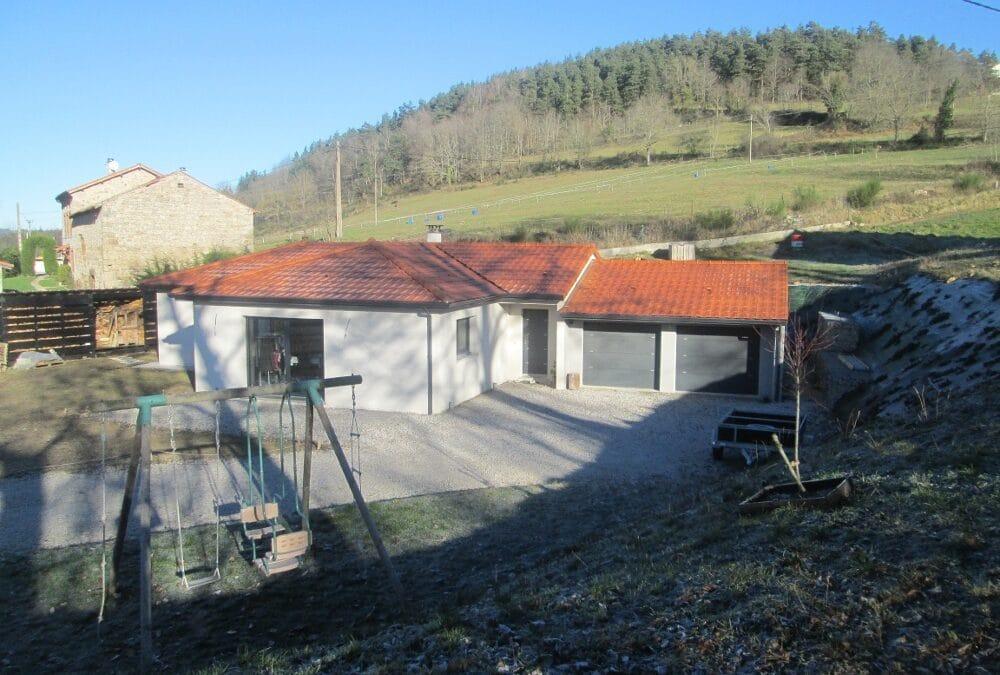 Maîtrise d'Oeuvre pour Construction d'une maison de plain-pied – La Chapelle d'Aurec