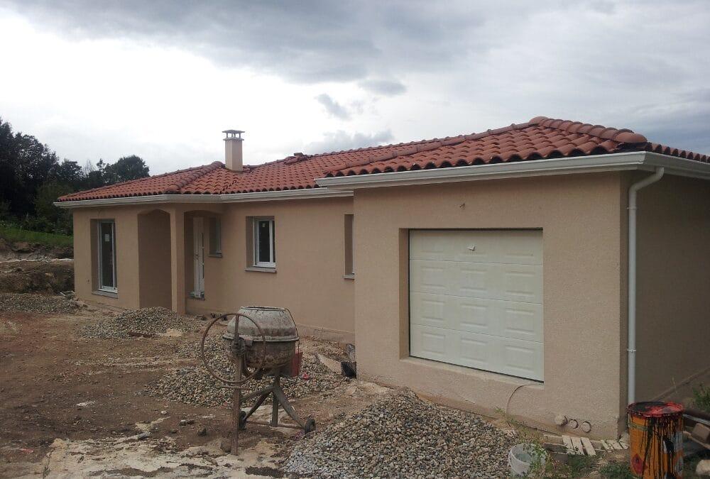 Maîtrise d'Oeuvre pour Construction d'une maison de plain-pied – Boisset Saint Priest