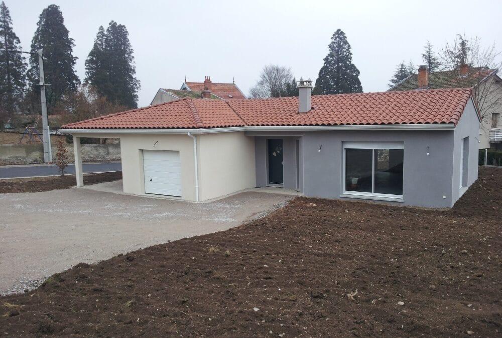Maîtrise d'Oeuvre pour Construction d'une maison de plain-pied avec abri voiture – Bas en Basset