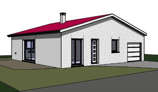 Maîtrise d'Oeuvre pour Construction d'une maison de plain-pied – Sury Le Comtal