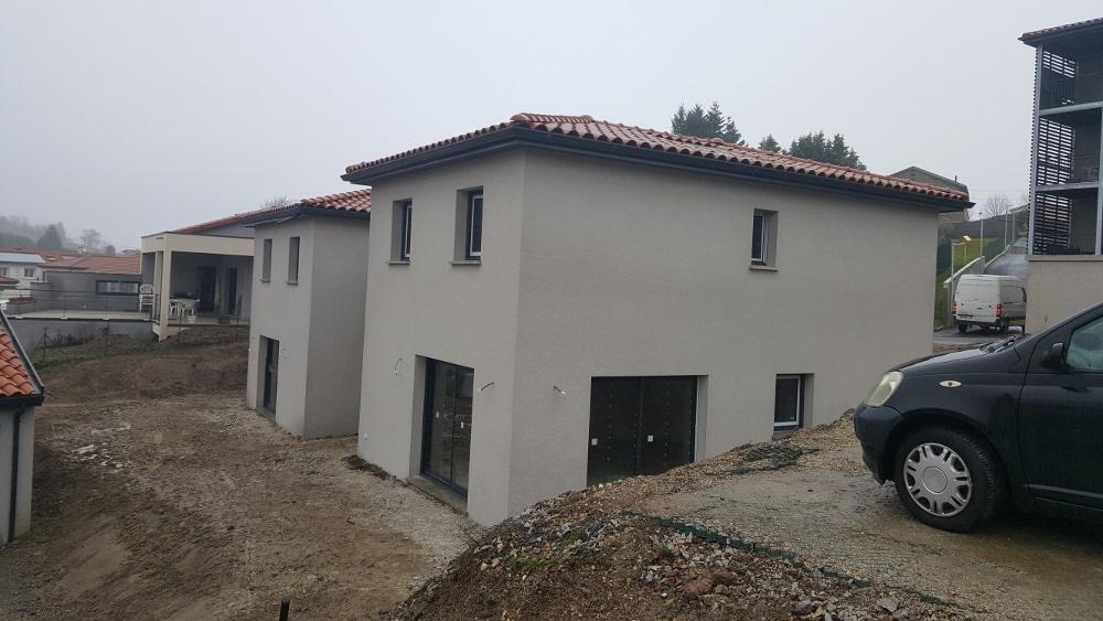 Maîtrise d'Oeuvre pour Construction de 2 maisonss mitoyennes à étage – Saint Victor sur Loire
