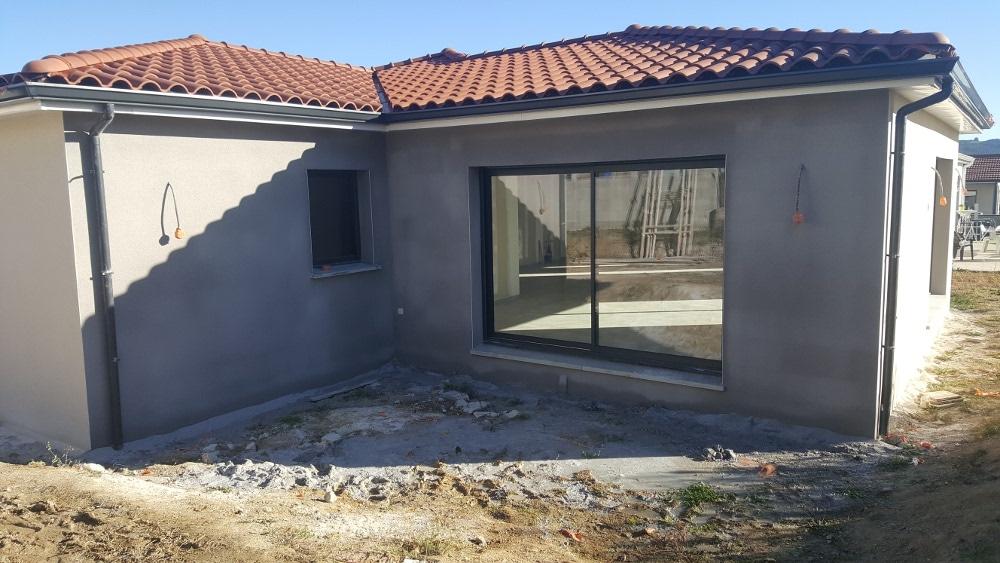 Maîtrise d'Oeuvre pour Construction d'une maison de plain-pied en T – Saint Just Saint Rambert