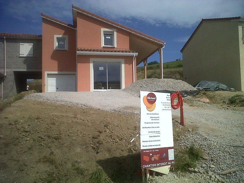 Maîtrise d'Oeuvre pour Construction d'une maison avec terrasse couverte – Firminy