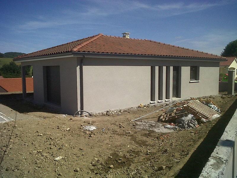 Maîtrise d'Oeuvre pour Construction d'une maison sur demi sous-sol – Unieux