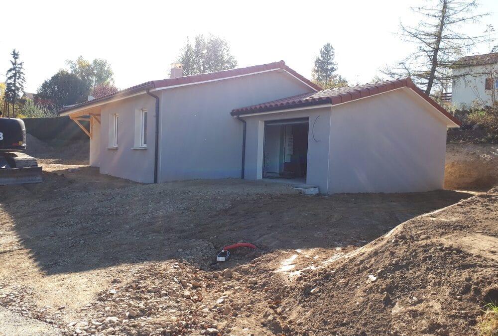 Maîtrise d'Oeuvre pour Construction d'une maison de plain-pied – Saint Romain les Atheux