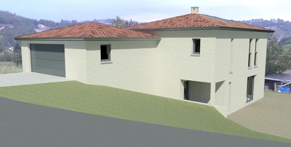 Maîtrise d'Oeuvre pour Construction d'une maison à niveau inversé – Terrenoire