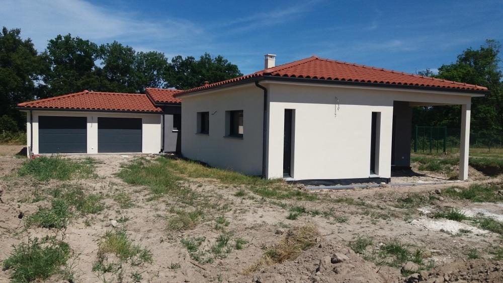 Maîtrise d'Oeuvre pour Construction d'une maison de plain-pied en T – Mizérieux