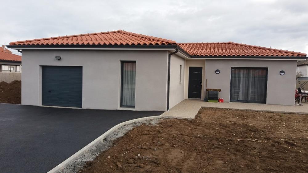 Maîtrise d'Oeuvre pour Construction d'une maison de plain-pied en L – Saint Cyprien