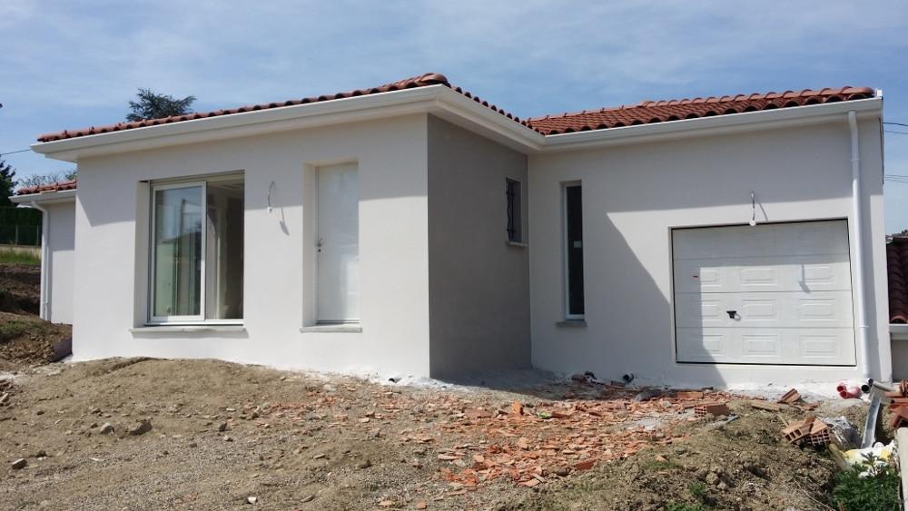 Maîtrise d'Oeuvre pour Construction d'une maison de plain-pied en T – Génilac