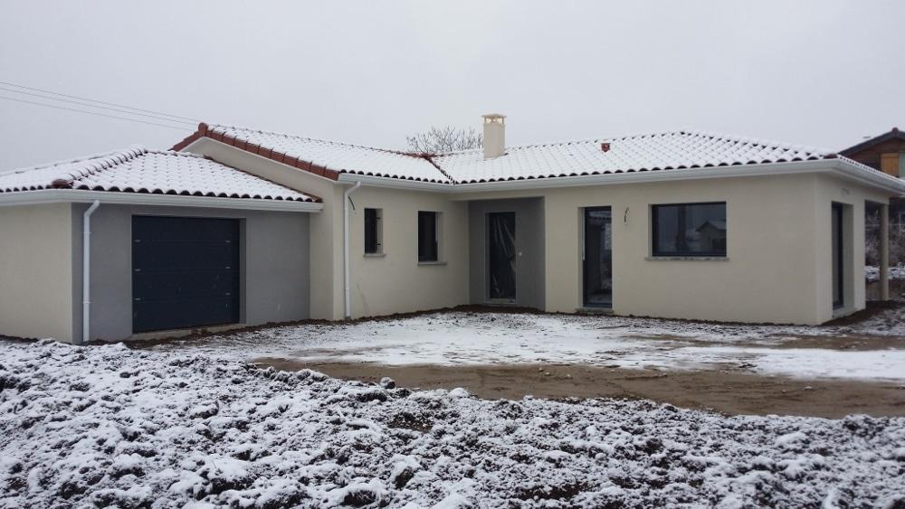 Maîtrise d'Oeuvre pour Construction d'une maison de plain-pied en L – Aboën