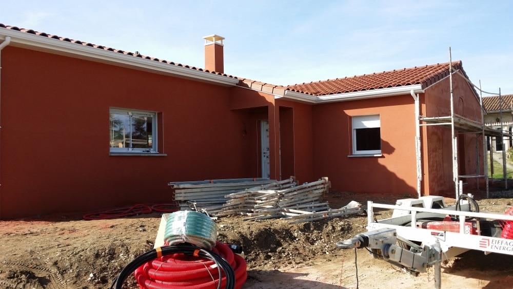 Maîtrise d'Oeuvre pour Construction d'une maison de plain-pied en L – Saint Just Saint Rambert