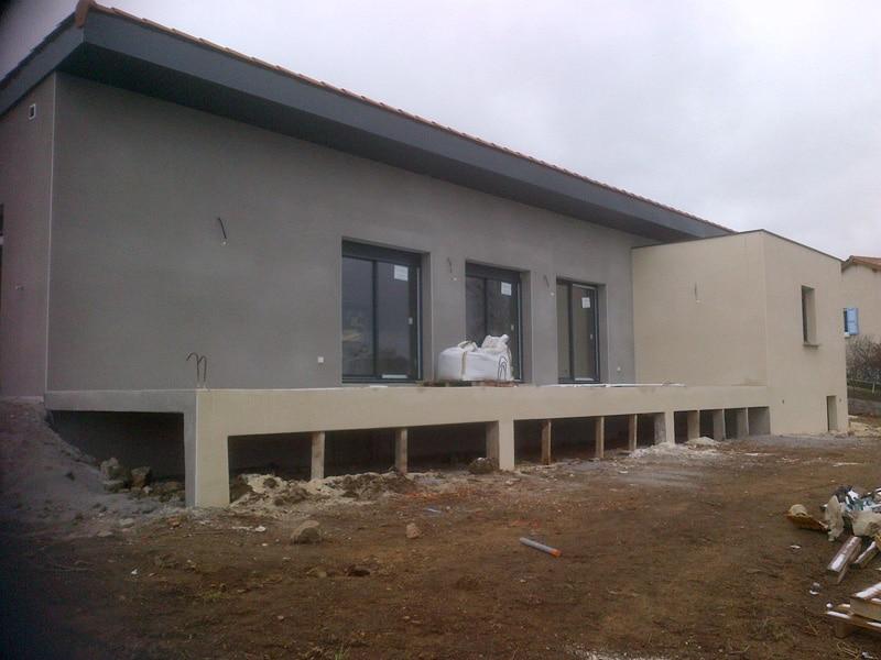 Maîtrise d'Oeuvre pour  Construction d'une maison moderne de plain pied – Chaspinhac