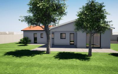Maitrise d'œuvre construction d'une maison de plain-pied  en L avec terrasse couverte – Sury le Comtal
