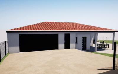 Maitrise d'œuvre construction d'une maison de plain-pied avec garage surélevé – Saint Just Malmont
