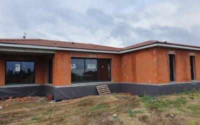 Construction en maitrise d'œuvre d'une maison de plain pied avec terrasse couverte – Saint Georges haute Ville