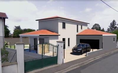 Construction en maitrise d'œuvre d'une maison à étage en hors d'eau hors d'air – Montrond les bains