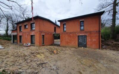 Construction en maitrise d'œuvre d'une maison moderne à étage en hors d'eau hors d'air – Ecully